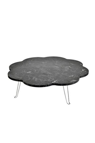 Katlanabilir Mermer Granit Desenli Yer Masası, Yemek Masası, Yer Sofrası 60 Cm