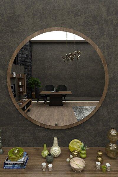 Ceviz Yuvarlak Ayna R59