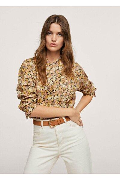 Kadın Sarı %100 Pamuklu Bluz