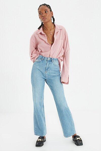 Mavi Yüksek Bel 90's Wide Leg Jeans TWOAW22JE0249