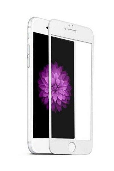Iphone 7 -8-s-2020 Tam Kaplayan 5d 9d Kırılmaz Cam Ekran Koruyucu Beyaz