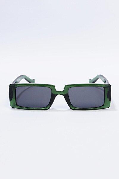 Kadın Yeşil Dikdörtgen Güneş Gözlüğü
