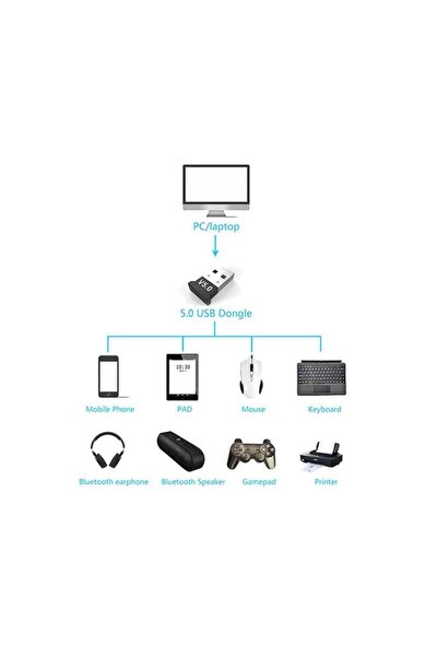 Mini V5.0 Usb Bluetooth Dongle V5.0 Bluetooth Adaptör