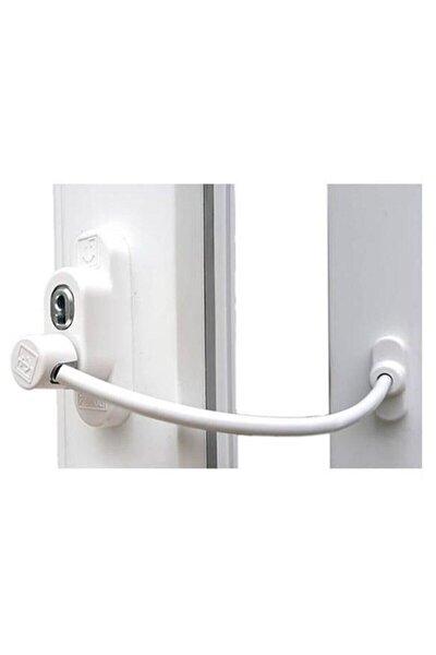 Beyaz Çelik Halatlı Kablolu Pvc Pencere Emniyet Çocuk Güvenlik Kilidi