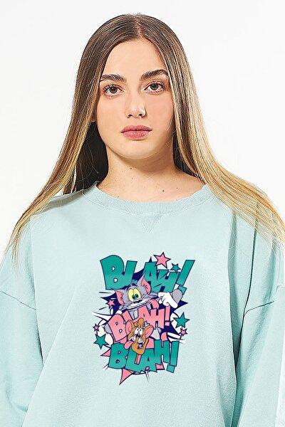 Warner Bros Lisanslı Tom Jerry Baskılı Sweatshirt