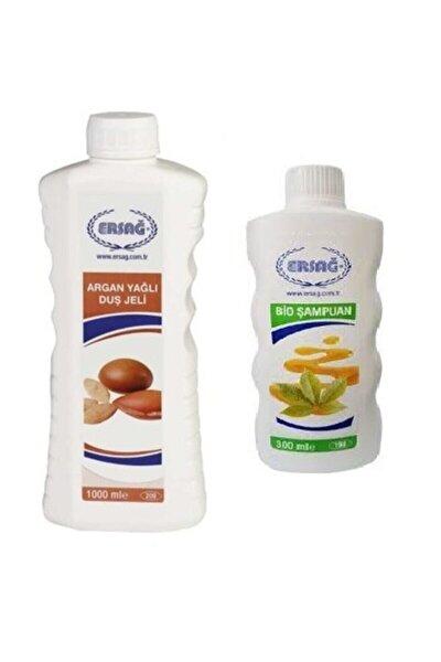 Argan Yağlı Duş Jeli 1000ml + Bio Şampuan 300ml