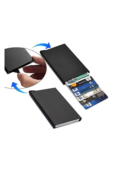 Minimalist Secrid Otomatik Mekanizmalı Metal Kredi Kartlık Rfıd Korumalı
