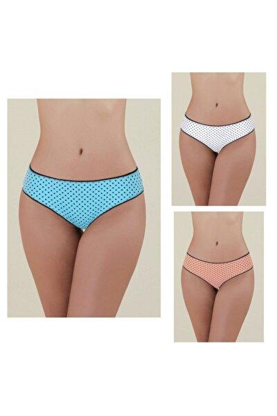 Polka Külot 3lü Bikini