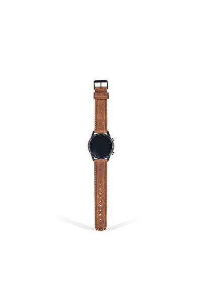 Huawei Watch Gt  Gt2 Gt2e  t2pro Uyumlu 46 mm Hakiki Deri El Yapımı Saat Kordon 9 Farklı Renk