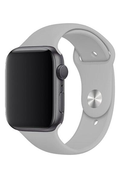 Apple Watch 6 Gps 44mm Spor Kordon Beton Grisi Kauçuk Kayış Kordon