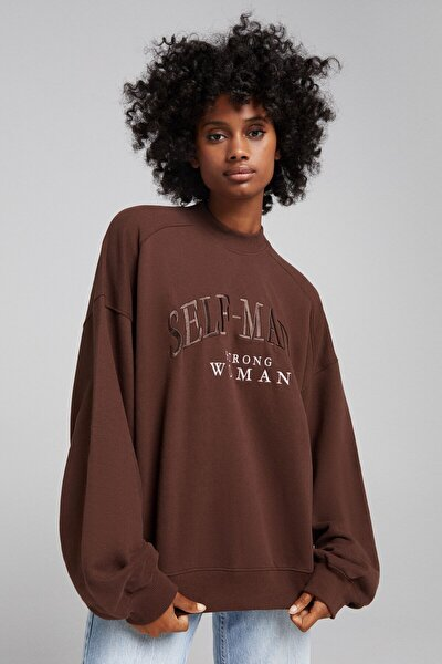 Baskılı Oversize Sweatshirt