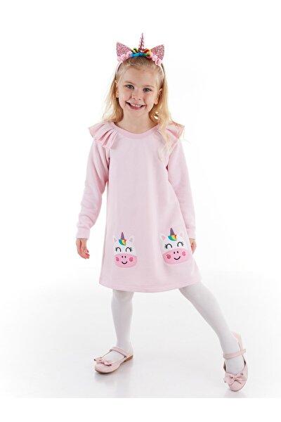 Cowcorn Pembe Kız Elbise