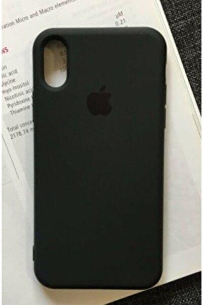 Iphone X Ve Xs Uyumlu Siyah Renk Logolu Içi Kadife Lansman Kılıf