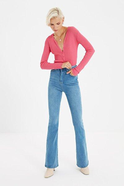 Mavi Yüksek Bel Flare Jeans TWOSS21JE0246