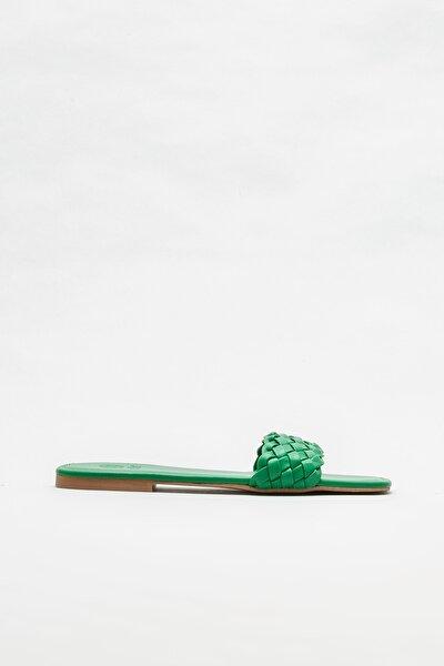 Yeşil Kadın Düz Terlik