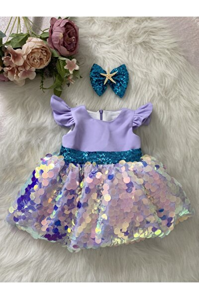 Lila Rengi Deniz Kızı Özel Gün Elbisesi