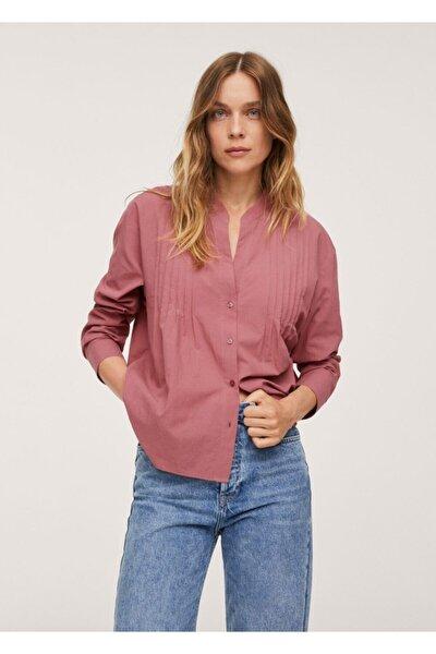 Kadın Bordo %100 Pamuklu Bluz