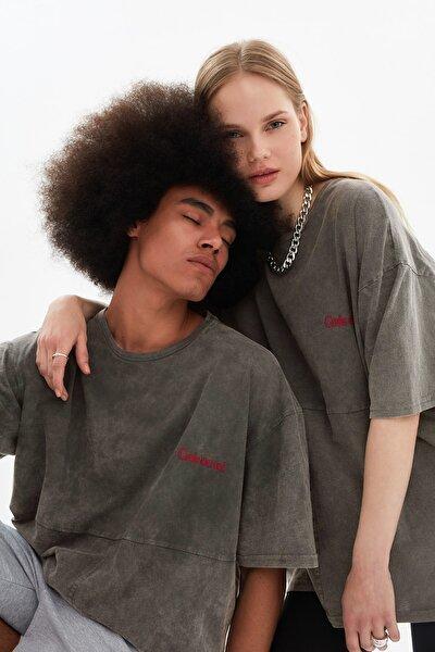 Antrasit Unisex Oversize T-Shirt TMNSS21TS3350