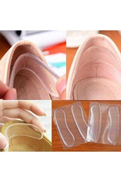 Ayakkabı Vurma Önleyici Şeffaf Silikon Topuk Yastığı 2 Adet