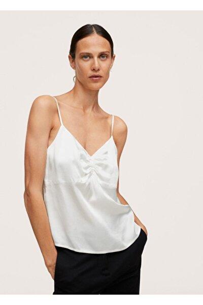 Kadın Saten Dantel Üst Bluz