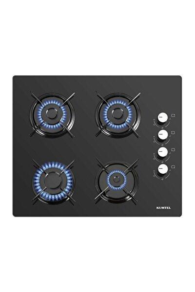 Homtego 40TSHDF Siyah Oval Cam Set Üstü Doğalgazlı Ocak