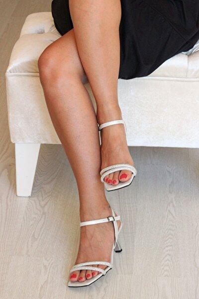 Gümüş Talşı Kadın Topuklu