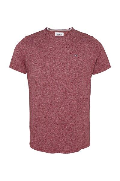 Erkek Kırmızı T-Shirt Tjm Essential Jaspe Tee DM0DM08736