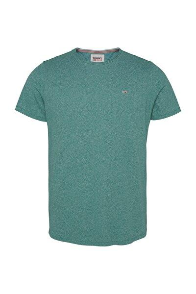 Erkek Yeşil T-Shirt Tjm Essential Jaspe Tee DM0DM08736