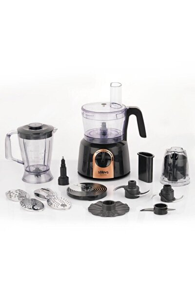 Maxi Chef Pro Mutfak Robotu-siyah&bakır