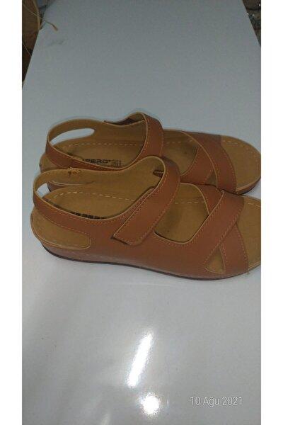 Taba Renk Cırtlı Anne Ayakkabısı Ortopedik