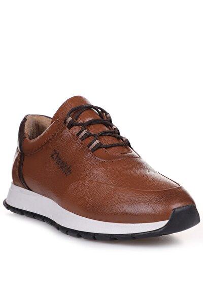 Taba Kahve İç Dış Komple Hakiki Deri Ortopedik İç Taban Spor Sneaker Erkek Ayakkabı