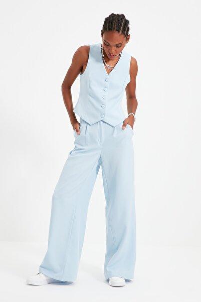 Açık Mavi Geniş Paça Pantolon TWOSS21PL0189