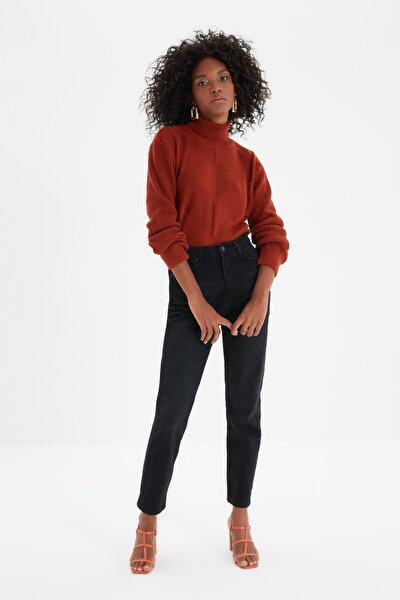 Antrasit Yüksek Bel Mom Jeans TWOAW20JE0129