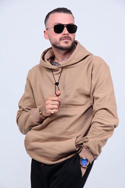Unisex Bej Vizon 2iplik Polarlı Sweatshirt