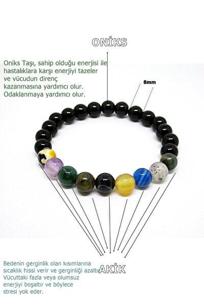 Stres Tılsım Enerji Bilekliliği (oniks-akik)
