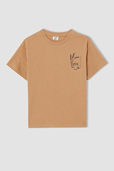 Erkek Çocuk Relax Fit Sırt Baskılı Kısa Kollu Tişört
