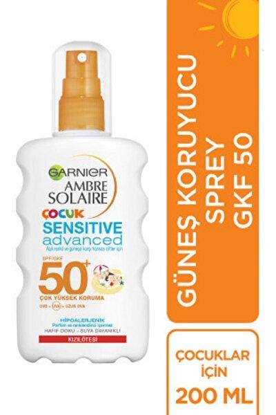 Ambre Solaire Sensitive Advanced Güneş Koruyucu Çocuk Sprey GKF50+  200ML