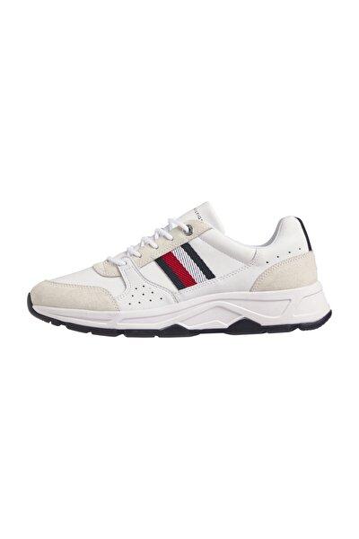 Erkek Beyaz Sneaker Fashion Leather Runner FM0FM03084