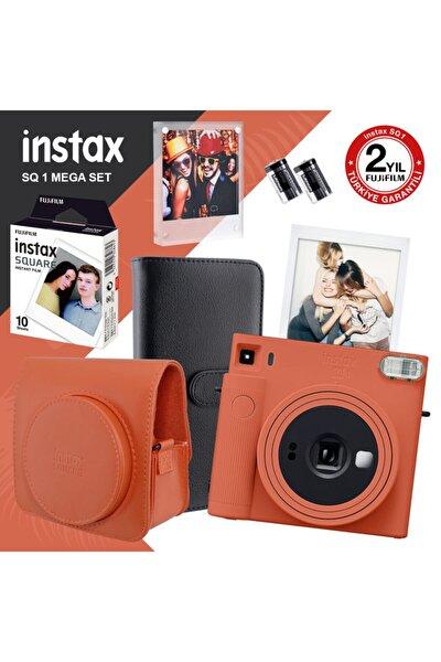 Instax Sq1 Terracotta Turuncu Fotoğraf Makinesi Ve Mega Hediye Seti