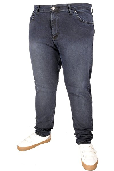 Büyük Beden Erkek Pantolon Kot 5cep Blueblack 20907