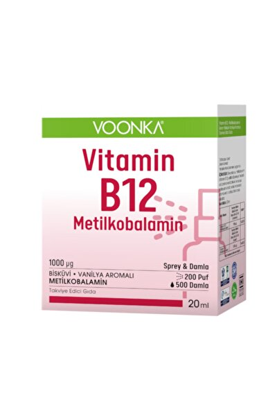 Vitamin B12 Metilkobalamin Damla /sprey 20 ml