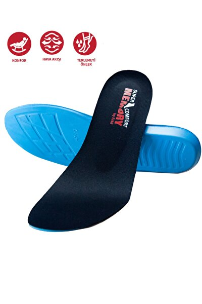 Spor Günlük Tabanlık Siyah Memory Foam Iç Taban Hafızalı Ayakkabı Iç Tabanlığı M22 Insole