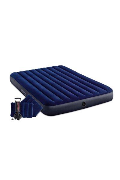 Çift Kişilik Şişme Yatak + 2 Yastık + Pompa / Kamp Seti