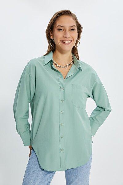 Mint Boyfriend Gömlek TWOAW20GO0115