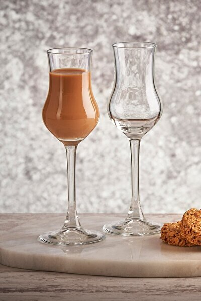 Beyaz 6'lı Grappa Kahve Yanı Su Bardağı
