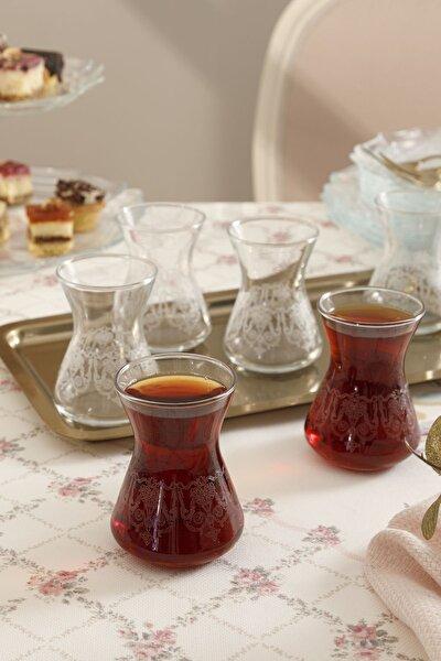 Pannel Cam 6'lı Çay Bardağı 125 Ml Şeffaf