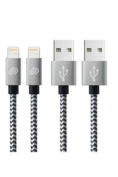 Iphone Usb Uyumlu Hızlı Şarj Ve Data Kablosu 2 'li Paket 1 Ve 3 Metre Örgülü Lightning Kablo