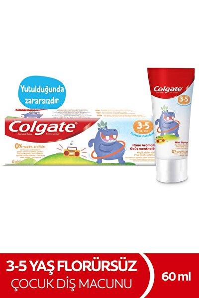 3-5 Yaş Nane Aromalı Florürsüz Çocuk Diş Macunu 60 ml
