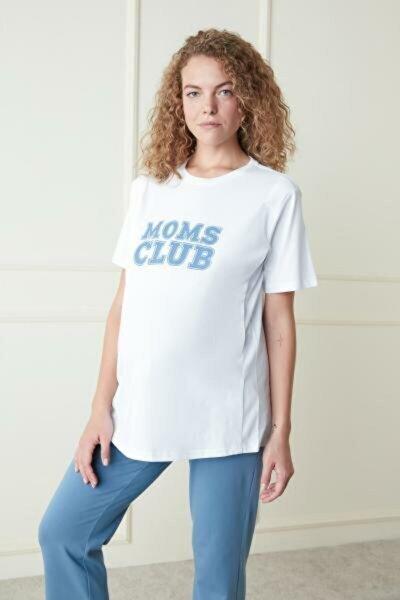 Optik Beyaz Mama Blue Tişört