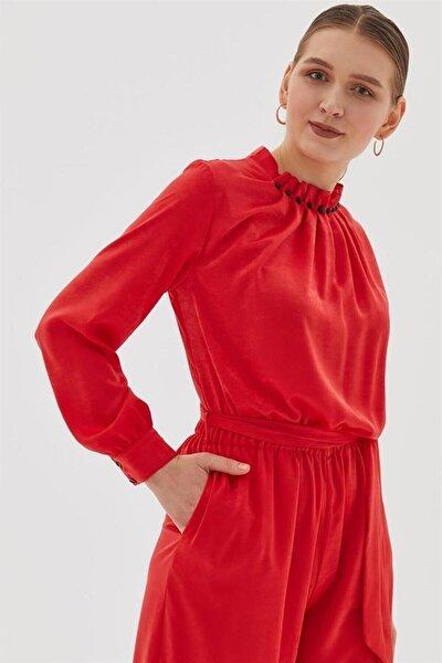 Elbise-kırmızı Tulum 40 Beden
